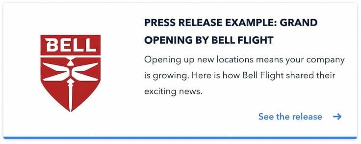 BellFlightexample