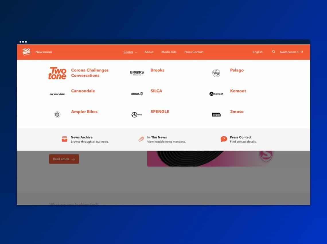 Twotone client segments - dark blue bg