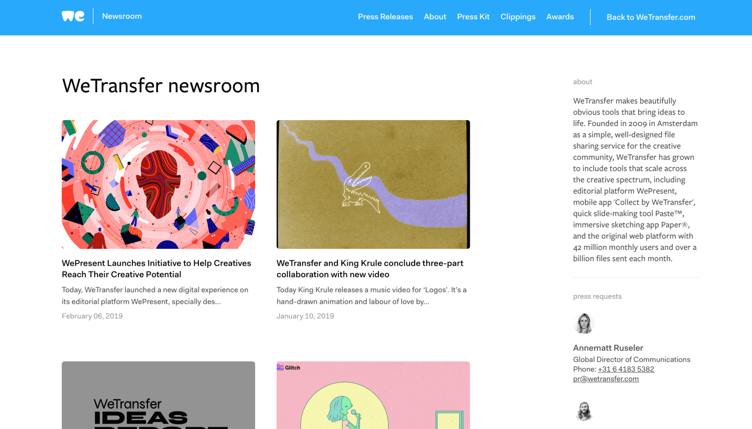 WeTransfer Newsroom